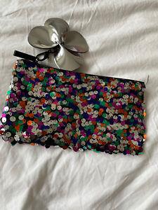 Mac Sequin Make Up Bag