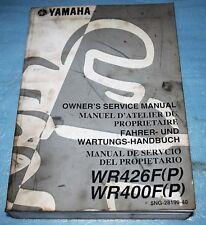 manuel d'atelier revue technique Yamaha WR 400 F / WR 426 F (P) 2002
