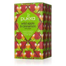 Pukka Organic Herbal 20 Tea Sachets Teabags - Wild Apple & Cinnamon
