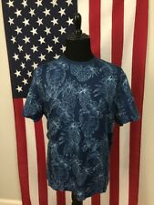 Pineapple Hawaiian UPF Protection Blue T-Shirt men's XL Tasso Elba Island 17195