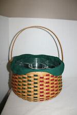 New Listing2003 Longaberger Joyful Chorus Basket, Ivy Fabric, Two Protectors, Host