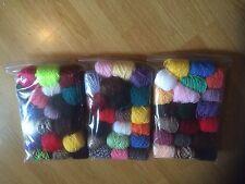 Lavoro Misto LOTTO 20 PALLINE 14-16 G ogni principalmente acrilico doppio filato di lana per lavoro a maglia