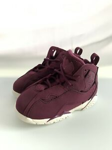 Children Jordan True Flight BT Bordeaux/White Size 10C
