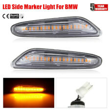 Pair LED Side Marker Light Signal Blinker Lamp For BMW E82 E88 E90 E91 E92 ~