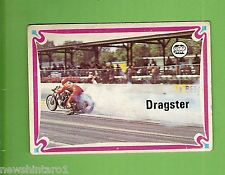 #D215. 1974  SCANLENS CHOPPERS & HOT BIKES CARD #17  DRAGSTER