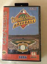 Sega Genesis World Series Baseball Sega Sports CIB