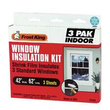 "Thermwell Frost King 42""x62"" (3 window pack) SHRINK FILM WINDOW KIT Clear-3 pk"