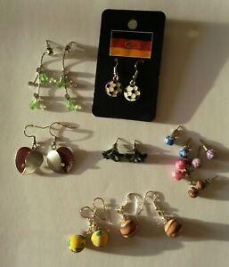 Ohrhänger NEU Ohrringe Silber Gelb Perlen Kugeln lang elegant Modeschmuck trendy