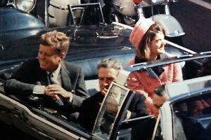 PRESIDENT JOHN & JACKIE KENNEDY JFK DALLAS MOTORCADE ASSASSINATION 8.5X11 PHOTO