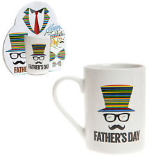 """Padre Día Taza Gres - Regalo - Color Diseño """"Sombrero De Copa """""""