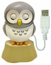 Healing Owl USB Drive Cord Cable Moving Speaking Healing Gadget Toy (Gray)