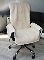 Merino Wool Fauteuil Chaise Bureau Housse Meuble Protection avec Rangement Poche