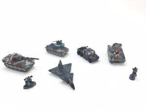 Micro Machines Military Terror Group Red Skull Tank Plane Truck Blue Brown LGTI