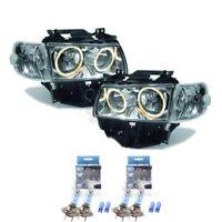 Scheinwerfer Set VW T4 Bus Caravelle Multivan klar/chrom Angel Eyes 1366144