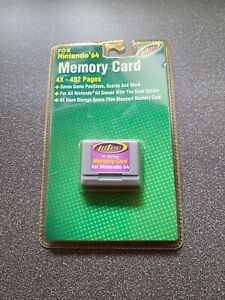 Nintendo N64 Intec Memory Card 4x -492 Pages Brand New Sealed