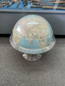 """National Geographic Society 16"""" World Globe W/ Time Ring & Measurement Cap"""
