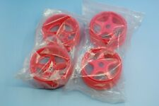 Vintage Kyosho 1/8 fluorescence red inferno MP5 MP6 MP7.5 buggy wheel set