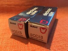Two matched, unused and boxed Mullard ECC83 valves, 1970s, fully tested