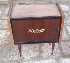 comodino in legno in legno vintage in legno modernariato radica vintage anni 60