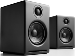 Audioengine A2+ Active Computer PC Speakers PAIR - BLACK Bluetooth Wireless