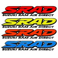 SRAD 4 colour choices motorcycle decals custom graphics stickers x 2