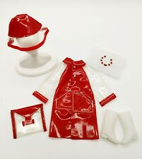 Vintage Barbie Skipper Red Set For When It'S Wet Extremely Rare & Mint! Extras