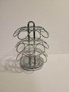 ROTATING SPICE ORGANIZER. Holds 27 Spices Stainless Steel. Used, great condition