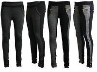 Ladies Women Sexy Black Grey Leggings Trousers Pants Size 6 8 10 12 14 16 18 20