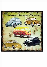 VW Vintage REPRODUCTION Metal Sign Garage Sign Garage Services Metal Wall Sign