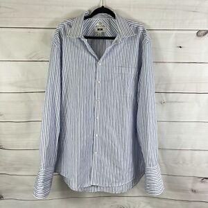Joseph Abboud Mens Size 18 36/37 Tall Slim Fit Button Down Long Sleeve Shirt XXL