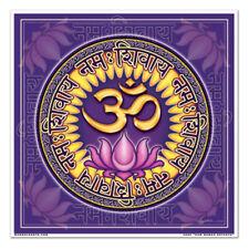 Mandala Arts Aum Namah Shivaya Lotus 2 Sided High Quality square Window Sticker