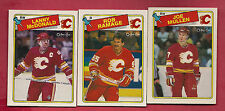 1988-89 OPC FLAMES RAMAGE + MCDONALD + MULLEN   CARD