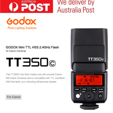 AU STOCK Godox TT350C TTL HSS 1/8000S 2.4G Wireless Flash Speedlite For Canon