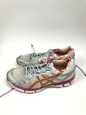 Women's 10 Asics GT-2000 Gray Pink Orange T2K7N Athletic Running Walking Shoes