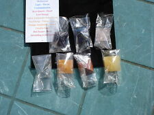 7 Chakra Gemstone Pyramid Set/Pouch--Crown Clear Quartz to Root-Red Jasper!