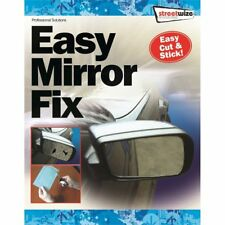 "CAR WING DOOR MIRROR REPAIR KIT - STICK ON - EASY MIRROR FIX 8"" x 5"" CUT TO SIZE"