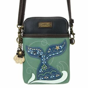 New Chala Cell Phone Purse Crossbody Convertible DAZZLED MERMAID TAIL Teal Green