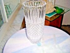 "Hand Crafted Vintage Crystal Frost Cut 8"" Centerpiece Vase"