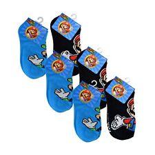 6 PAIR NINTENDO SUPER MARIO BROS LUIGI Kids Boys Socks 6-8 Shoe Size 10.5-2.5
