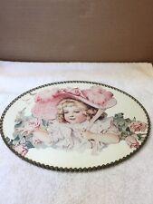 Little Girl In Bonnet Oval Shaped Picture