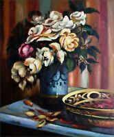 Quality Hand Painted Oil Painting Floral in Classic Look 20x24in