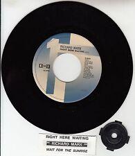 "RICHARD MARX  Right Here Waiting  7"" 45 rpm record + juke box title strip NEW"