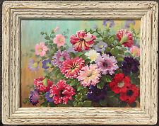 Painting Still Life Flowers Garden Marius Schmidt Smith California Listed 18x24