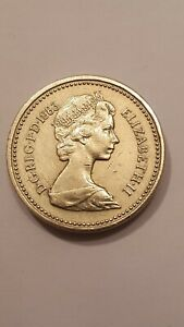 Very RARE Uncirculated 1983 Royal Arms One Pound Coin Old Style ( One Pound )