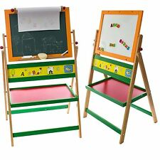 Kids Art Double Sided Magnetic 2 IN 1 Easel Chalk White Black Drawing Board Toy