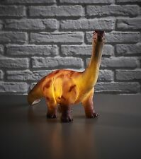 Amber Bright Dinosaur Brontosaurus Battery Powered LED Decorative Or Night Light