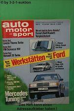 AMS Auto Motor Sport 14/85 Lancia Thema ie. Turbo R25 V6 VW Scirocco 16V
