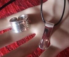 * 100er Silber * Classic * BesteckSchmuck -Set * Anhänger & Kette & Ring *
