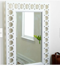 Large Contemporary White Modern Wall Mirror Wood Bath Hall Rectangle Cottage