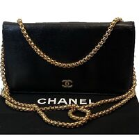 CERTIFIED AUTH. CHANEL CC Calfskin Leather Long Wallet~US SELLER